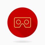 Icona piana di vettore fine con il logo di VR Immagini Stock Libere da Diritti