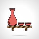 Icona piana di vettore per l'insieme rosso di causa Fotografie Stock
