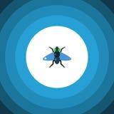 Icona piana isolata di moscone azzurro della carne Dung Vector Element Can Be ha usato per Dung, mosca, concetto di progetto di m Fotografia Stock Libera da Diritti