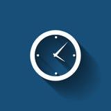 Icona piana moderna di vettore della gestione di tempo per il web Fotografia Stock Libera da Diritti