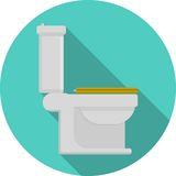 Icona piana per la toilette Fotografia Stock