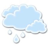 Icona piovosa del tempo Fotografia Stock