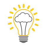 Icona positiva di sensibilità Progettazione di pensiero Grafico di vettore Immagine Stock Libera da Diritti