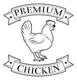 Icona premio del pollo Immagini Stock