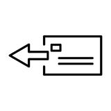 Icona premio o logo della posta nella linea stile Fotografia Stock Libera da Diritti