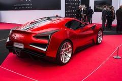 Icona röda Vulcano Royaltyfria Bilder