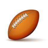 Icona realistica della palla di rugby o di calcio Fotografie Stock Libere da Diritti