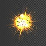 Icona realistica di esplosione Immagini Stock Libere da Diritti
