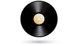 Icona realistica record di LP del nuovo vinile del grammofono Fotografia Stock