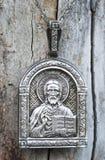 Icona religiosa del ugodnik del Nikolai Fotografie Stock Libere da Diritti