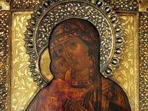 Icona religiosa russa, primo piano immagini stock libere da diritti