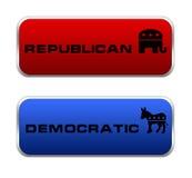 Icona repubblicana e democratica Immagini Stock Libere da Diritti
