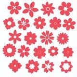 Icona rosa del fiore Fotografia Stock Libera da Diritti