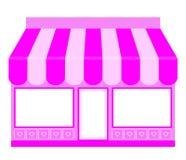 Icona rosa del negozio Immagini Stock