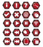 Icona rossa Immagini Stock Libere da Diritti