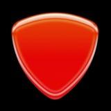 Icona rossa Fotografia Stock Libera da Diritti