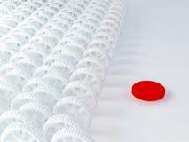 icona rossa bianca del dente 3d Fotografia Stock