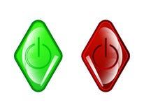 Icona rossa del cerchio di vettore su fondo bianco Fotografia Stock