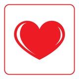 Icona rossa del cuore Immagine Stock