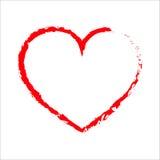 Icona rossa del cuore Illustrazione di vettore illustrazione di stock