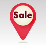 Icona rossa del ` di vendita del ` Fotografia Stock