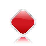 Icona rossa del rhomb Immagine Stock Libera da Diritti