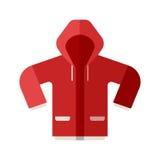 Icona rossa del rivestimento di sport illustrazione di stock