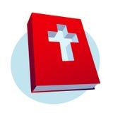 Icona rossa della bibbia Fotografie Stock