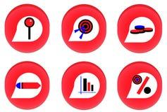 Icona rossa di businness Immagine Stock Libera da Diritti