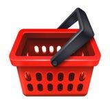 Icona rossa 10eps del cestino della spesa illustrazione di stock
