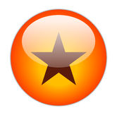 Icona rossa vetrosa della stella Immagini Stock Libere da Diritti