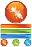 Icona rotonda arancione - termite Fotografia Stock Libera da Diritti