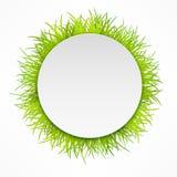 Icona rotonda dell'erba Fotografie Stock