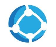 Icona rotonda di comunicazione illustrazione di stock
