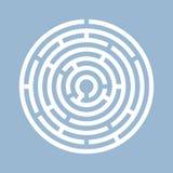 Icona rotonda di vettore del labirinto Immagini Stock Libere da Diritti