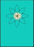 Icona sacra di yoga su Teal Fotografia Stock