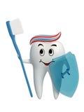 Icona sana del dente del guerriero isolata Fotografia Stock Libera da Diritti
