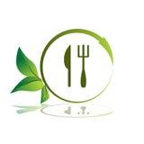 Icona sana del pasto illustrazione di stock