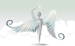Icona santa di angeli Illustrazione Vettoriale