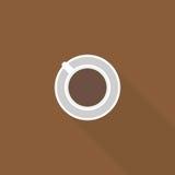 Icona semplice del caffè Immagine Stock