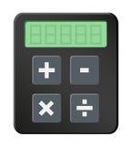 Icona semplice del calcolatore Fotografia Stock
