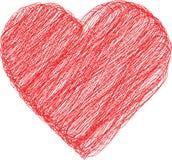 Icona semplice del cuore Fotografia Stock