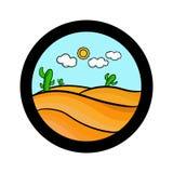Icona semplice del paesaggio Immagine Stock