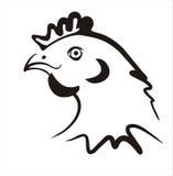 Icona semplice del pollo Immagine Stock