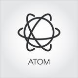 Icona semplice dell'atomo Chimica, concetto di scienza illustrazione vettoriale