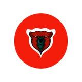 Icona semplice dell'orso Fotografia Stock Libera da Diritti