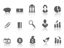 Icona semplice della banca Fotografia Stock