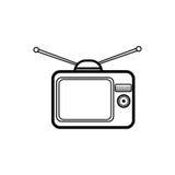 Icona semplice della televisione Immagini Stock Libere da Diritti