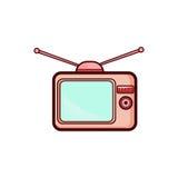Icona semplice della televisione Fotografie Stock