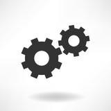 Icona semplice delle ruote dentate Fotografia Stock Libera da Diritti